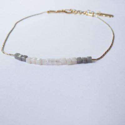 Cubic bracelet de cheville Poudré